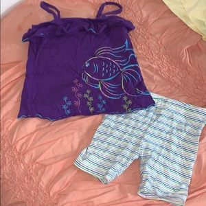 Healthtex girls top and shorts set 24 months